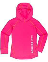 New Balance Girls' Athletic Hooded Pullover Top