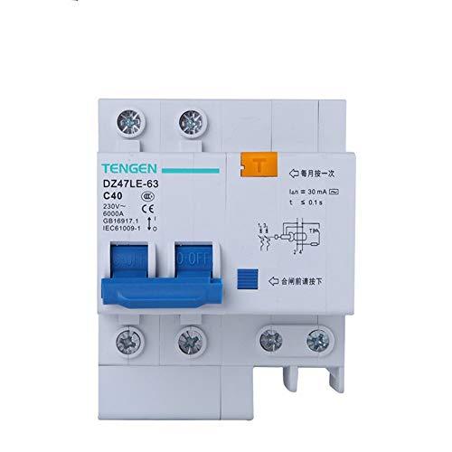 OIASD Interruptor de Aire Interruptor de protección contra Fugas 2P C40A 30mA...