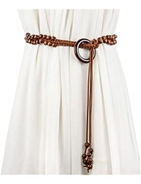 De Las Mujeres De Bohemia Tejido étnico De La Cuerda De La Correa De La Falda De Cera Y Suéter Decorativos Cinturones