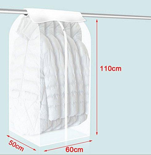 Sac De Protection de Vêtements Robe Costume Vêtement Housse de Vêtement Couvercle Antipoussière - Transparent
