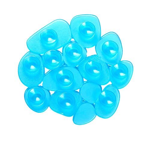 MSV Antirutschmatte für Bad oder Dusche, 4 Stück, Blau (durchsichtig)