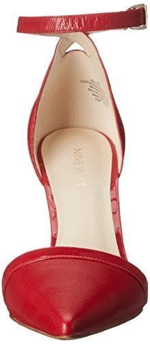 Nove in pelle occidentale multiproprietà pompa Dress Red/Red