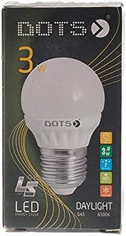 DOTS LED Bulb Ceramic G45-6500K - DS-LEDCR-3W - 3 Watt