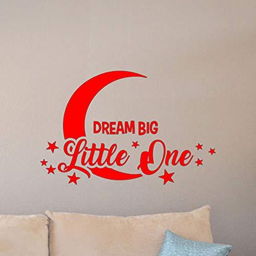 yaoxingfu Kinderzimmer Dekor Vinyl Kunst Aufkleber Motivation Zitat Traum Big Little One Wandtattoo Mond Und Sterne Wandaufkleber Für Kinderzimmer ww-2 107x74 cm