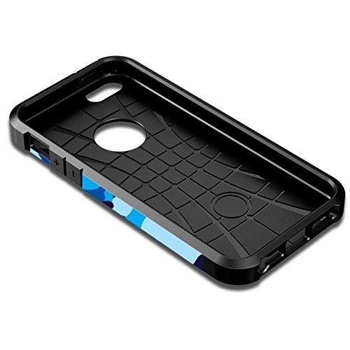SCSY-phone case Per il modello di camouflage per iPhone 6 TP + TPU Caso duro dellarmatura colorata ( SKU : S-IP6G-6683A ) S-IP6G-6683C