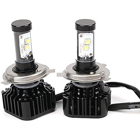 2 Piezas H4 HID lámpara de xenón Faro Bombilla del reemplazo Reemplazo Impermeable Brillante Seguridad Conveniente para Motos y Coches K8 3.0A (MAX) 800W /