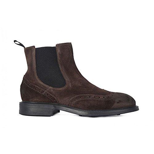FRAU 73B6 CAFFE Anglais chaussures en daim homme beatles sivaletti Marron