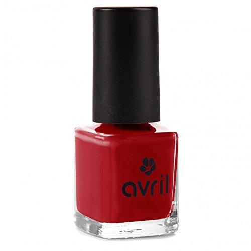 AVRIL - Vernis à Ongles Vegan Sans produits Chimiques - Rouge Opera 19 - Application Facile, Non Testé sur les Animaux - 7ml
