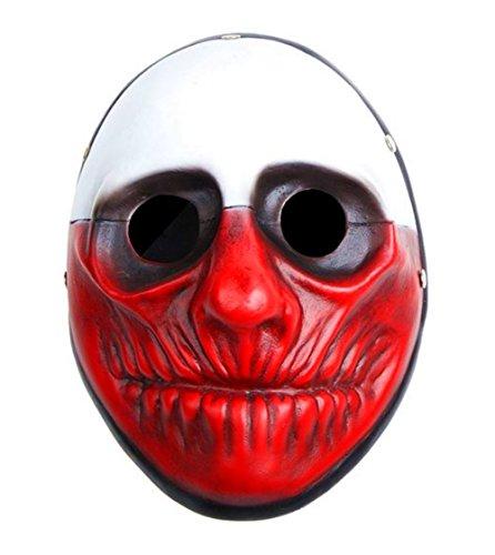 Kostüm Payday Hoxton 2 - OM(TM) Payday 2 Hoxton-Maske aus Kunstharz, Nachbildung Wolf