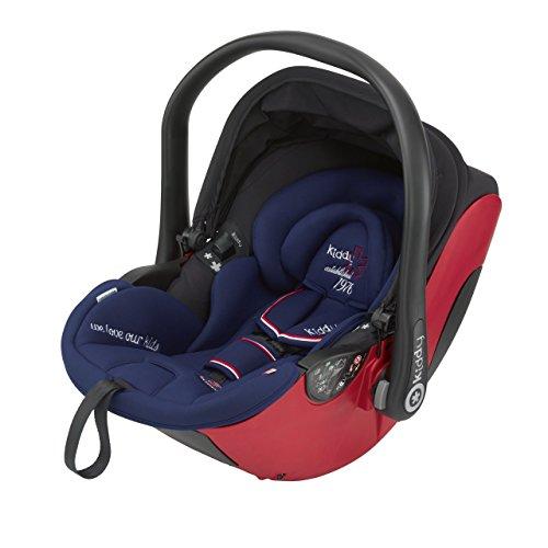 Preisvergleich Produktbild Kiddy 41930EL030 Evolunafix Babyschale, patentierte Liegefunktion, Isofix-fähig, inkl. Isofix Base 2, Gruppe 0+ (0-13 kg, Geburt-ca. 15 Monate), San Marino (dunkelbrau-rot)