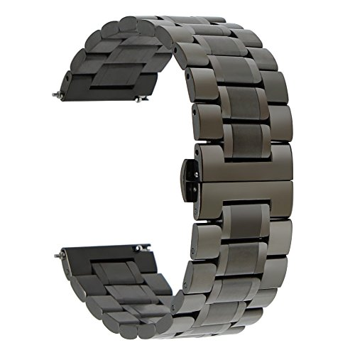 atibel mit Huawei Watch GT/Galaxy Watch 46mm/ Gear S3 Armband, 22mm Edelstahl Uhrenarmband Metall Armband Ersatzband für Samsung Galaxy Watch 46mm, Gear S3 Frontier/Classic ()