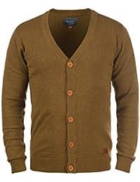 BLEND Lennard Herren Cardigan Strickjacke aus hochwertiger Baumwoll-Mischung