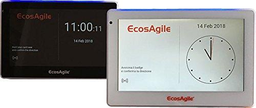 Timbracartellino Rilevazione Presenze WI-FI, 7 pollici a colori, 5 Badge NFC inclusi, Software gestione presenze GRATIS per il primo anno, possibilità APP integrata di timbratura mobile geolocalizzata