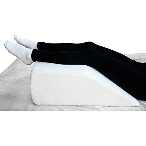 METRON-(Medium Size Foam Firm Support) Orthopedic Leg Rest Elevating Wedge Pillow Reduces Back Pain & Improves Circulation