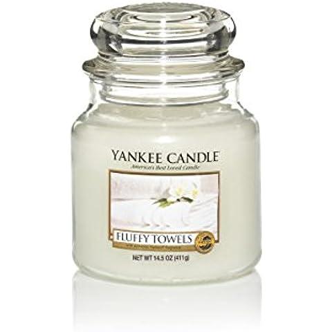Yankee Candle vela en tarro, toalla de peluche, mediano