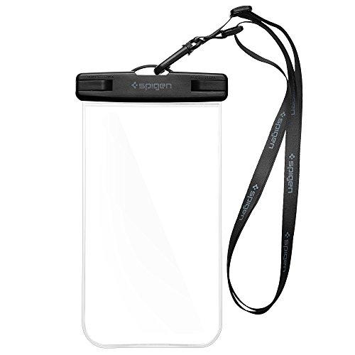 Custodia Impermeabile, Spigen [IPX8 Certificato] [Premium Universale Sacchetto Asciutto Subacqueo] Cassa del Telefono Impermeabile Phone Pouch con Cinghia Laccio Trasparente / Toccare Responsive / a tenuta stagna Custodia Impermeabile Smartphone per Apple iPhone 7/7 Plus/6/6S/6 Plus/5S/5/SE, Samsung Galaxy S7/S7 Edge /S6/S6 Edge /Note 5, Google Pixel /Pixel XL, Huawei, OnePlus, Sony, HTC e più Intelligenti Dispositivi, Cover Impermeabile, Waterproof Case - A600 Crystal Clear (000EM20923)