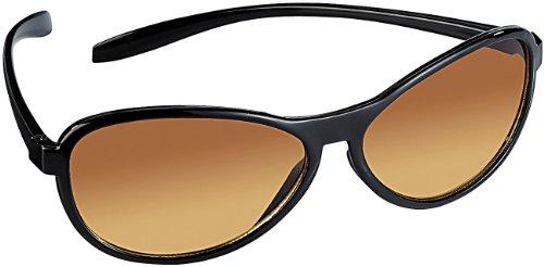 PEARL Kontrastbrillen: Kontrast-verstärkende Sonnenbrille, helle Gläser, polarisiert, UV 380 (Polarisierende Sonnenbrillen) (Sportliche Auszeichnungen)
