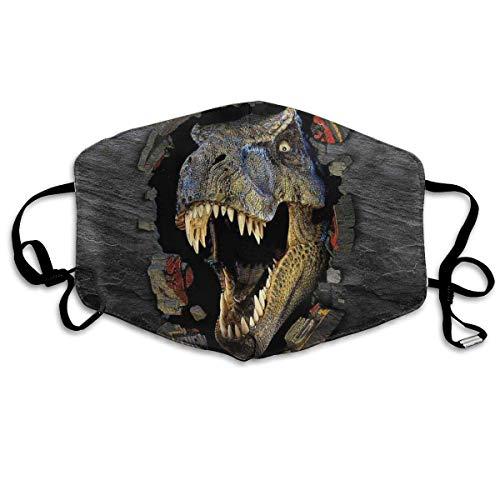 Weiß Reinigende Maske (Vbnbvn Unisex Mundmaske,Wiederverwendbar Anti Staub Schutzhülle,Scary T-Rex Face Mouth Mask Anti Dust Dustproof Maske für Mann Frau)