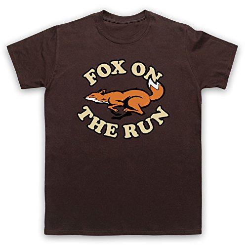Inspiriert durch Sweet Fox On The Run Unofficial Herren T-Shirt Braun