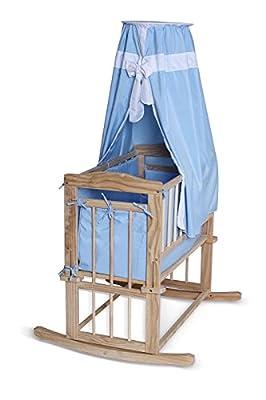 BB0043, Cama para bebé (80x40 cm), La cuna en madera, Set completo