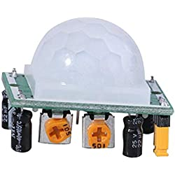 HC-SR501 Ajuste Pyroelectric IR PIR Junta de Módulo de Sensor de Cuerpo de Sensor de Movimiento por Reflexión Infrarrojo Detección Humana para Arduino DIY