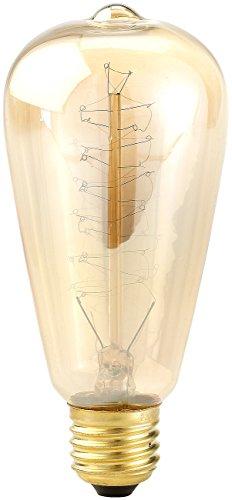 Luminea Schmuck Glühbirne: Vintage-Schmucklampe, konisch, mit spiralförmigem Glühdraht (Antike Retro Birnen)