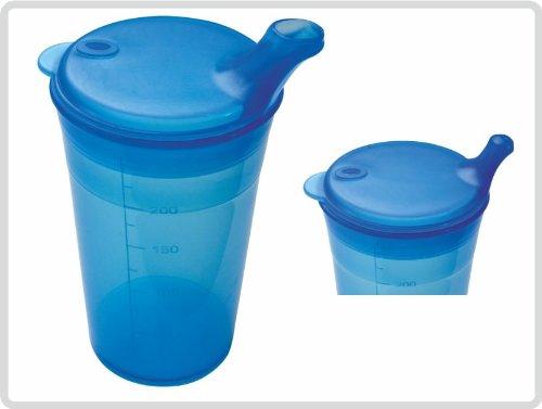 Trinkbecher-Set Tee und Brei, kurzes Mundstück, blau