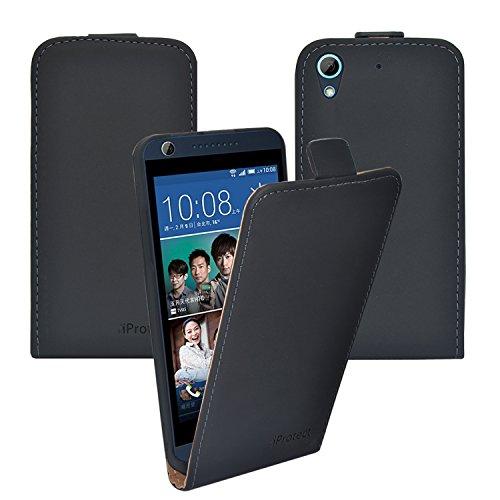 Preisvergleich Produktbild iProtect HTC Desire 626G Kunstleder Flip Case Schutzhülle schwarz