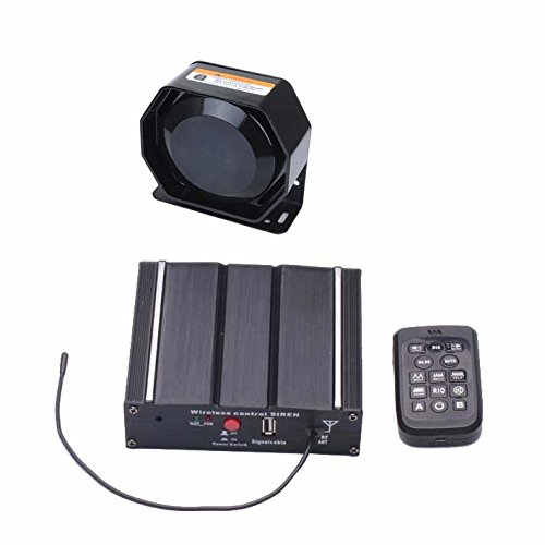 Als 100W Federal Sirene Kit as71005-spk00213Pack 20Töne mit Sirene Box Kabelloser Fernbedienung Lautsprecher Mikrofon für Police Ambulance Fire Traffic Ingenieur Fahrzeuge Federal Signal Alarm