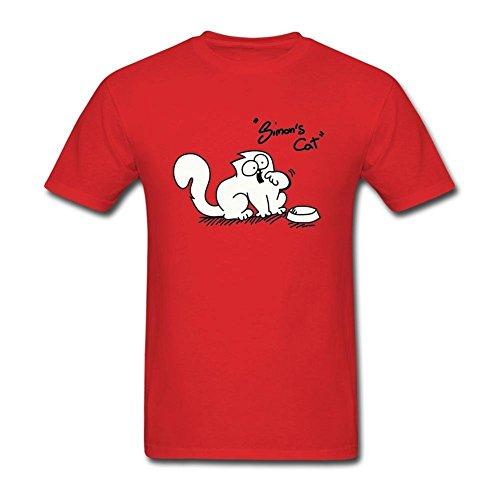 Arnoldo Blacksjd Men's Simon's Cat Short Sleeve T Shirt Large