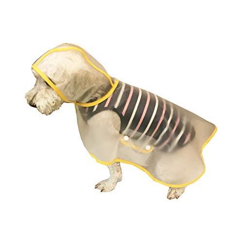 BbearT Haustier-Regenmantel, Regenmantel für Hunde, Ultraleicht, Transparenter Regenmantel mit Kapuze, Wasserdichte Jacken, Mäntel für Kleine Hunde und Welpen