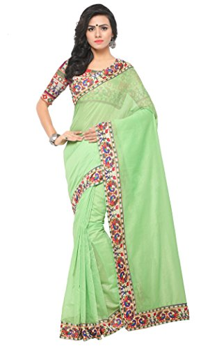 Fabwomen Sarees Kalamkari Multi Coloured Chanderi Cotton Fashion Party Wear Women's Saree/Sari...