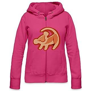 Simba The Lion King Logo Womens Zipper Hoodie X-Large