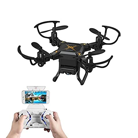 RC Quadcopter Drone,Xiahbong SBEGO 127W Mini Drone 0.3MP HD Camera 2.4G 4CH 6 Axis Small Four-axis Automatic Expansion With WiFi Real-time Map Transmission MODE2 (Black)