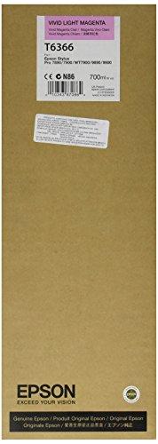 Epson T6366 C13T636600 - Cartouche d'encre d'origine - Vivid Magenta Clair pour Stylus Pro - 700ml