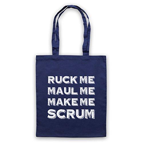 Ruck Me Maul Me Mi Fa Scrum Divertente Rugby Slogan Umhangetaschen Ultramarinblau