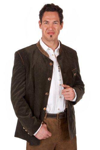 orbis Textil Trachten Herren Janker - CORD/Stehkragen - oliv, Größe 48