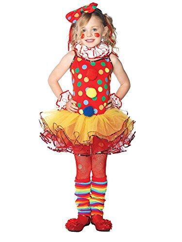 Leg Avenue C48153 - Circus Clown Kostüm Set - bunt - 110/116 (Cutie Kostümen)