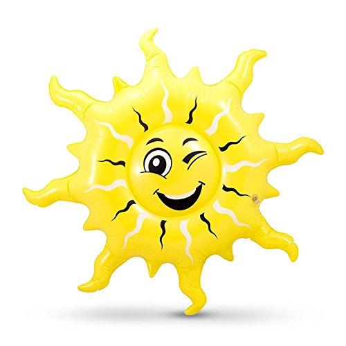 Preisvergleich Produktbild 8 x HC-Handel922266 aufblasbare Sonne Gummisonne Aufblassonne mit Gesicht 58 x 58 cm