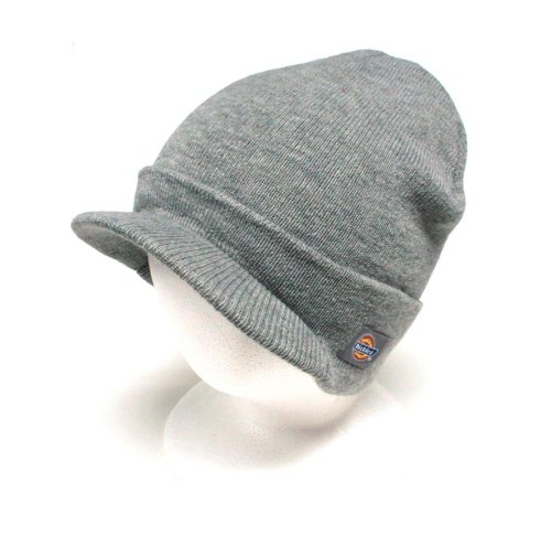 Dickies Core 874 Heather Grey Billed Knit Beanie with Visor