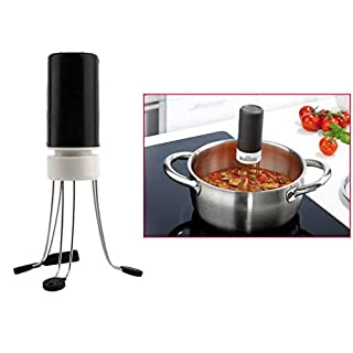 takestop® Rotating Stirrer Spin SUGO Automatic Mixer Robot 3 Speed for Pots Stoves Panels