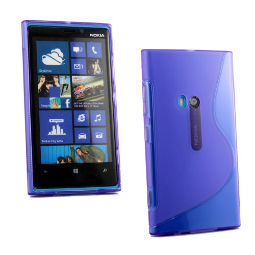 Kit Me Out IT Custodia in Gel + Pellicola protettiva con Panno in Microfibra per Nokia Lumia 920 - Viola Modello A