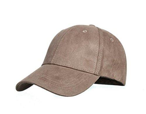 Velour-baseball-cap (CAPRIUM 6-Panel Cap in Velours, Wildleder Optik, Baseball Cap, verstellbar, Unisex 000CA (Khaki))