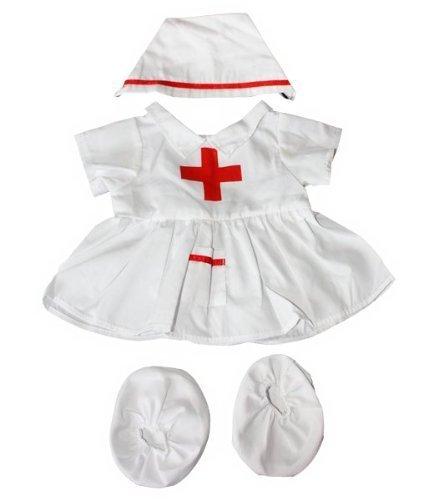 Krankenschwester Teddybär Outfit / Bekleidung. Passend für 15