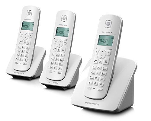 Motorola C403E Trio Telefono Cordless Portatile Senza Fili con 3 Ricevitori