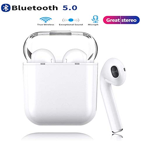 I8X Bluetooth Earbuds Wireless Headset, Pop-up Auto Pairing And 1000 mAh Charging Box, Noise-reducing Stereo in-Ear Headphones, Compatible with Airpod Apple iPhone/Android