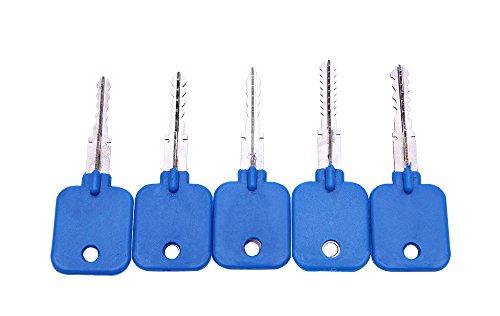 5 llaves de ganzúas de bloqueo cruzado, llave maestra para bloqueo cr