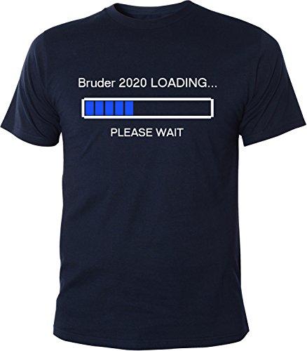 Mister Merchandise Herren Men T-Shirt Bruder 2020 Loading Tee Shirt bedruckt Navy
