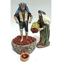 Arte Pesebre Grupo Pastor pisando UVA, para Figuras de 14 cm.