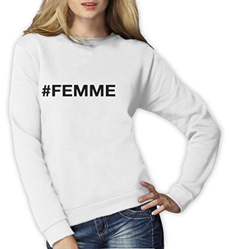 femme - Fashion Week style Sweatshirt Femme Blan